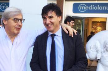Giorgio Grasso e Vittorio Sgarbi