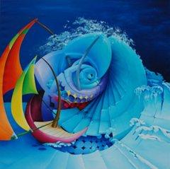 Maremosso - pittura dell'artista Symona Colina