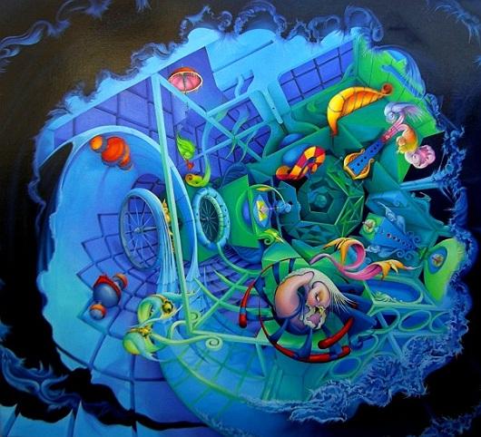 Vijfbol della pittrice Symona Colina