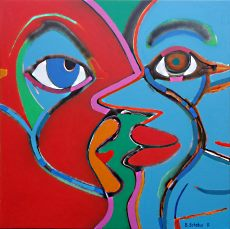 Colorkiss Red Turquise 100x100