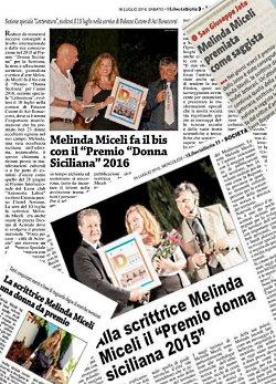 Melinda Miceli pluripremiata