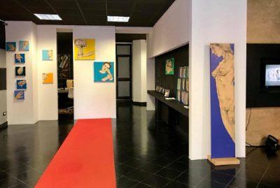 Art Gallery Museum, Piacenza, allestimento della personale Effigies di Silvia Rastelli 2018